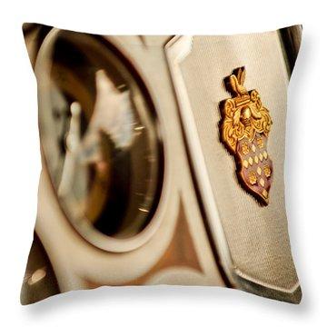 1934 Packard 1104 Super Eight Phaeton Emblem Throw Pillow by Jill Reger