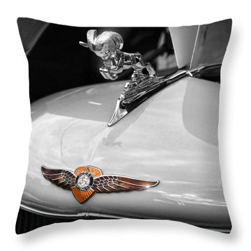 1935 Dodge Brothers Pickup - Ram Hood Ornament Throw Pillow by Gordon Dean II