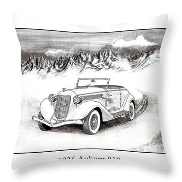 1936 Auburn 810 Throw Pillow by Jack Pumphrey