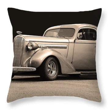 Throw Pillow featuring the photograph 1936 Buick by Robert Meanor