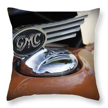 1936 Gmc Pickup Truck Hood Ornament Throw Pillow by Robin Lewis
