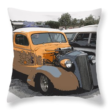 1937 Chevy Coupe Throw Pillow by Steve McKinzie