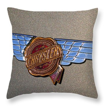 1937 Chrysler Airflow Emblem Throw Pillow by Gordon Dean II