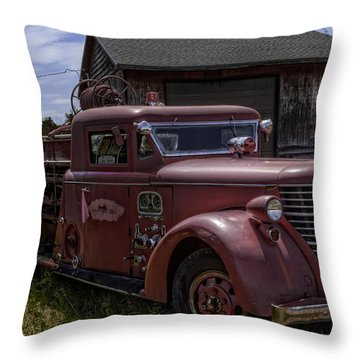 1939 American Lafrance Foamite Throw Pillow by Tom Gort