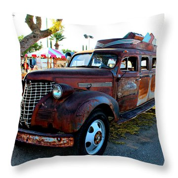 Throw Pillow featuring the photograph 1939 Chevy Sedan Limo by Jo Sheehan