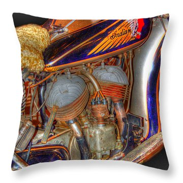 1940 Indian Scout Police Unit Version 1 Throw Pillow by Ken Smith