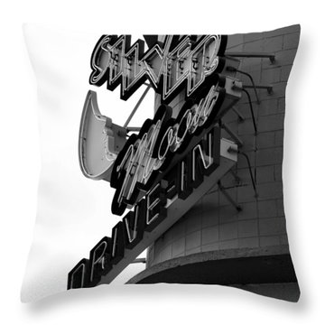 1940s Drive In Throw Pillow by David Lee Thompson