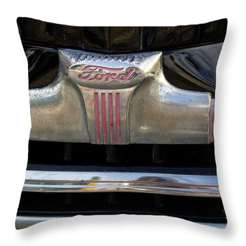 1940s Ford Grill Throw Pillow