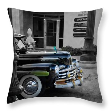 1940s Ford Out Of The Past Throw Pillow