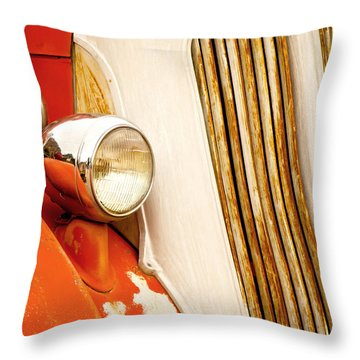 1940's Seagrave Fire Engine Throw Pillow