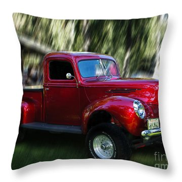 1941 Ford Truck Throw Pillow by Peter Piatt