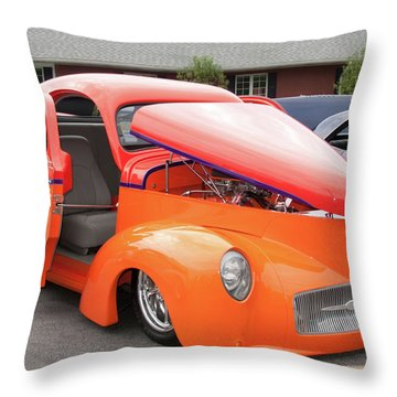 1941 Willys Coupe 7774 Throw Pillow by Guy Whiteley