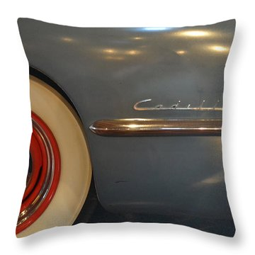 1942 Cadillac - Series 62 Sedanette Fastback Throw Pillow by Michelle Calkins