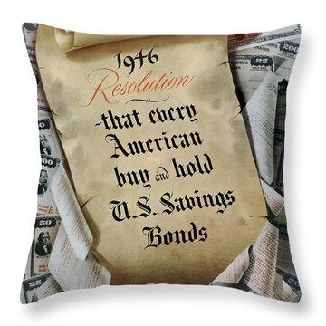 1946 Resolution  Throw Pillow