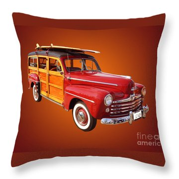 1947 Woody Throw Pillow