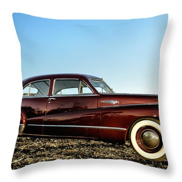 1948 Buick Eight Super Throw Pillow by Bill Cannon