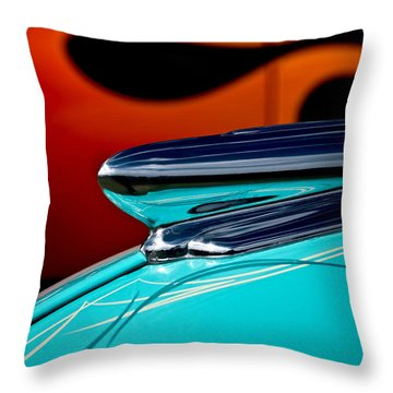 1948 Chevy Hood Ornament Throw Pillow
