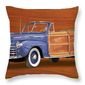 1948 Ford Sportsman Convert. Throw Pillow by Jack Pumphrey