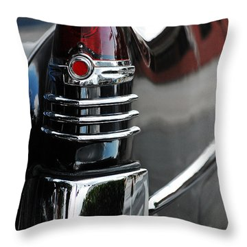 Throw Pillow featuring the photograph 1948 Tailfin by Robert Meanor