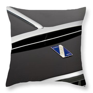 1948 Talbot-lago T26 Grand Sport Franay Cabtiolet Hood Emblem Throw Pillow by Jill Reger