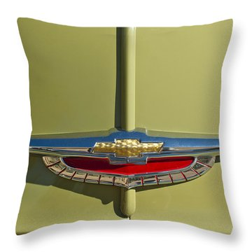 1950 Chevrolet Fleetline Emblem Throw Pillow by Jill Reger