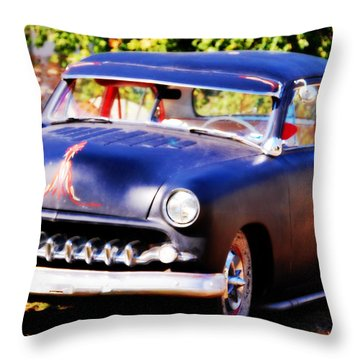 Throw Pillow featuring the photograph 1950 Ford  Vintage by Peggy Franz