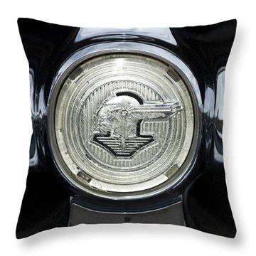 1950 Pontiac Grille Emblem 2 Throw Pillow by Jill Reger