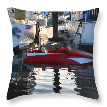 Throw Pillow featuring the photograph 1950's Custom Hydroplane by Kym Backland