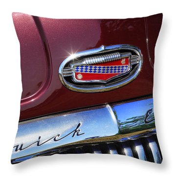 Throw Pillow featuring the photograph 1951 Buick Eight by Gordon Dean II