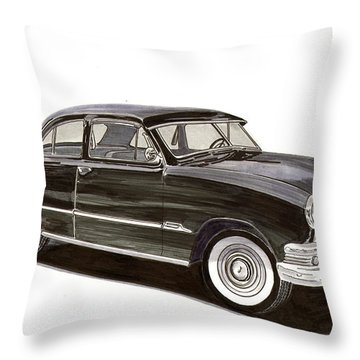 1951 Ford 2 Dr Sedan Throw Pillow by Jack Pumphrey
