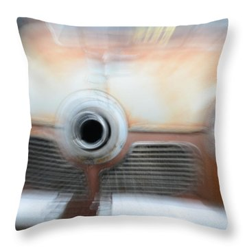 1951 Studebaker Abstract Throw Pillow by Randy J Heath