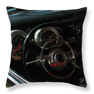 1953 Mercury Monterey Dash Throw Pillow by Peter Piatt