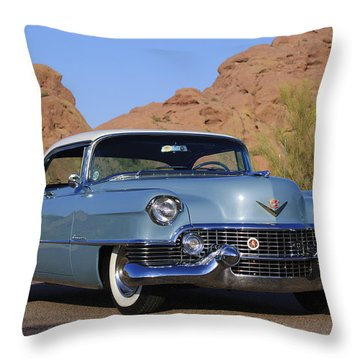 1954 Cadillac Coupe Deville Throw Pillow by Jill Reger