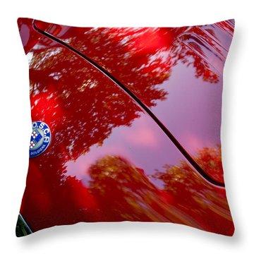 Throw Pillow featuring the photograph 1954 O.s.c.a. Mt4 Maserati Hood Emblem by Jill Reger