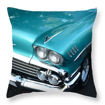 1955 Chevy Belair Front End Throw Pillow by Paul Ward