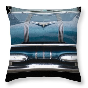 1955 Pontiac Star Chief Front Throw Pillow by Betty LaRue
