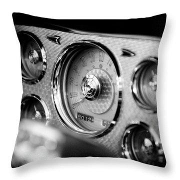 1956 Packard Caribbean Dashboard Throw Pillow by Sebastian Musial