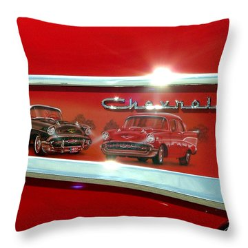 1957 Chevrolet Throw Pillow