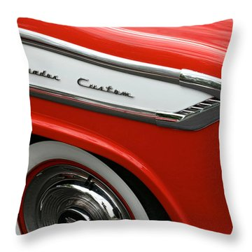 1957 Nash Ambassador Custom Throw Pillow by Gordon Dean II