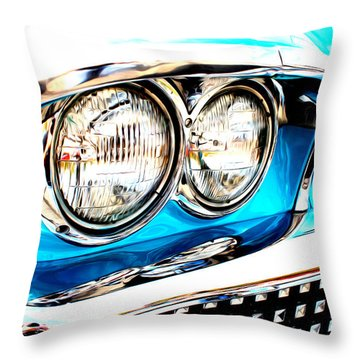 Throw Pillow featuring the digital art 1958 Buick by Tony Cooper