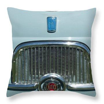 1959 Fiat Multipia Hood Emblem Throw Pillow by Jill Reger