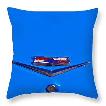 1960 Chevy Bel Air Trunk Emblem Throw Pillow