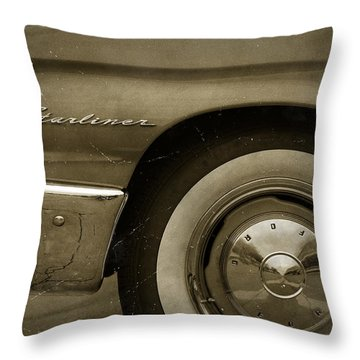 1961 Ford Starliner Throw Pillow by Gordon Dean II