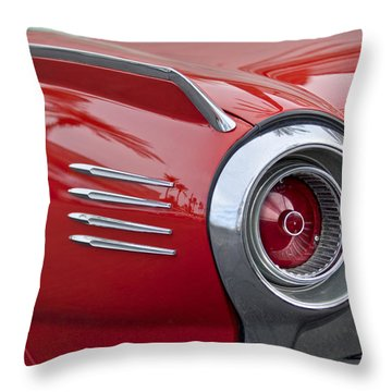 1961 Ford Thunderbird Taillight Throw Pillow by Jill Reger