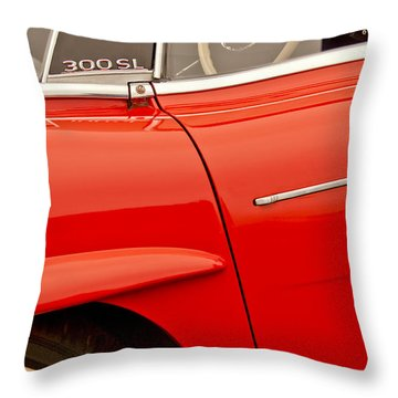 1962 Mercedes-benz 300 Sl Roadster Throw Pillow by Jill Reger