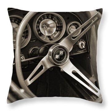 1963 Chevrolet Corvette Throw Pillow