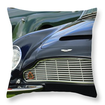 1965 Aston Martin Db6 Short Chassis Volante Throw Pillow by Jill Reger