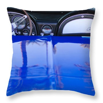 1965 Chevrolet Corvette Sting Ray Throw Pillow by Jill Reger