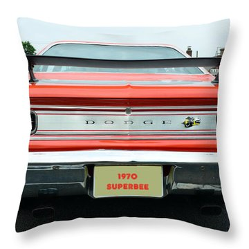 1970 Dodge Coronet Super Bee Throw Pillow by Paul Ward