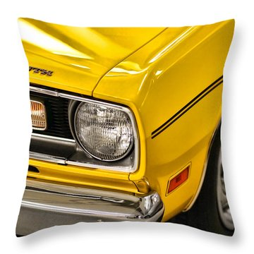 1970 Plymouth Duster 340 Throw Pillow by Gordon Dean II